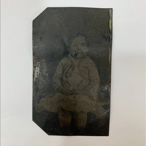 Other - Antique 1800s Victorian Baby Tintype Photograph